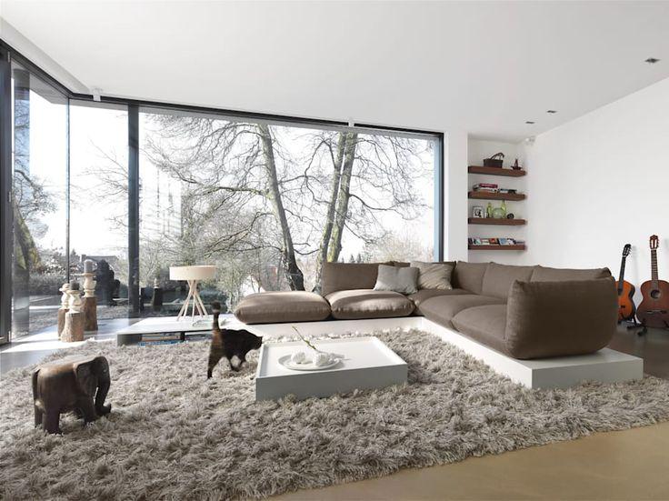 Die besten 25+ Streif haus Ideen auf Pinterest Haus architektur - wohnzimmer grose fensterfront