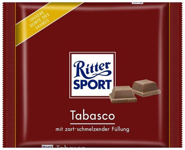 RITTER SPORT Fake Schokolade Sorte Tabasco