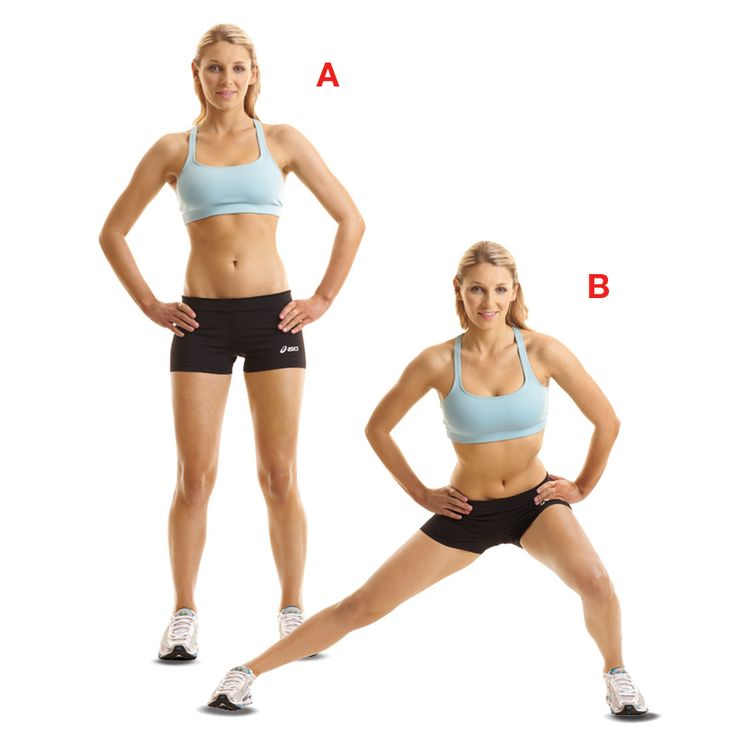 Lateral lunges are a perfect workout for busy New Yorkers who can't make it tot he gym.