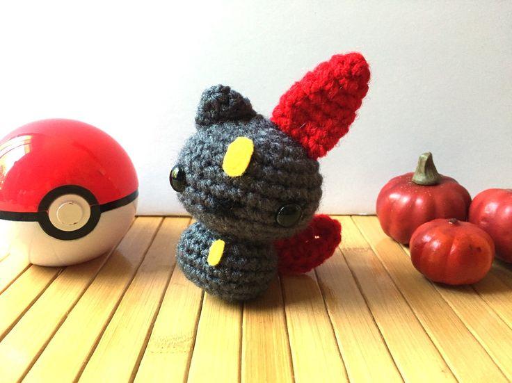 Sneasel Moon Bun - Dark Type Pokemon Bunny Rabbit Amigurumi Doll - 31 Amigurumi in October by MoonsCreations on Etsy