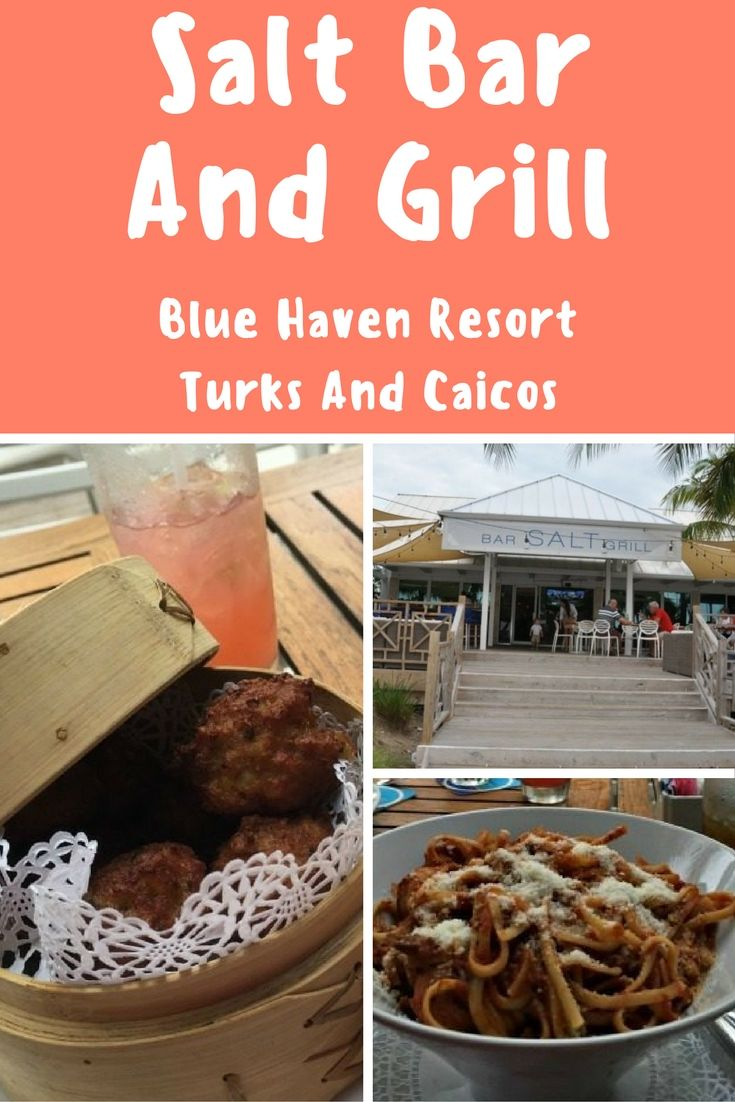 The Salt Bar and Grill is the marina based restaurant at the Blue Haven Resort on Provo, Turks and Caicos. Their relaxed nautical environment is full of both tourists, hotel guests, and local seamen.