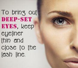 Makeup tips for deep-set eyes
