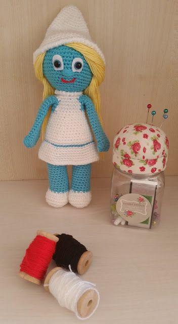 amigurumi amigurumi doll handmade doll crochet doll amigurumi bebek elişi bebek örgü bebek amigurumi palyaço palyaço tilda bebek, smurf, amigurumi smurf,
