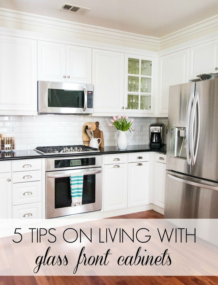 5 Tips on Living with Glass Cabinets   Corner kitchen ...
