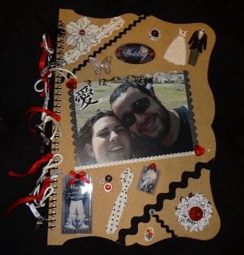 Caderno de recordações para o casamento