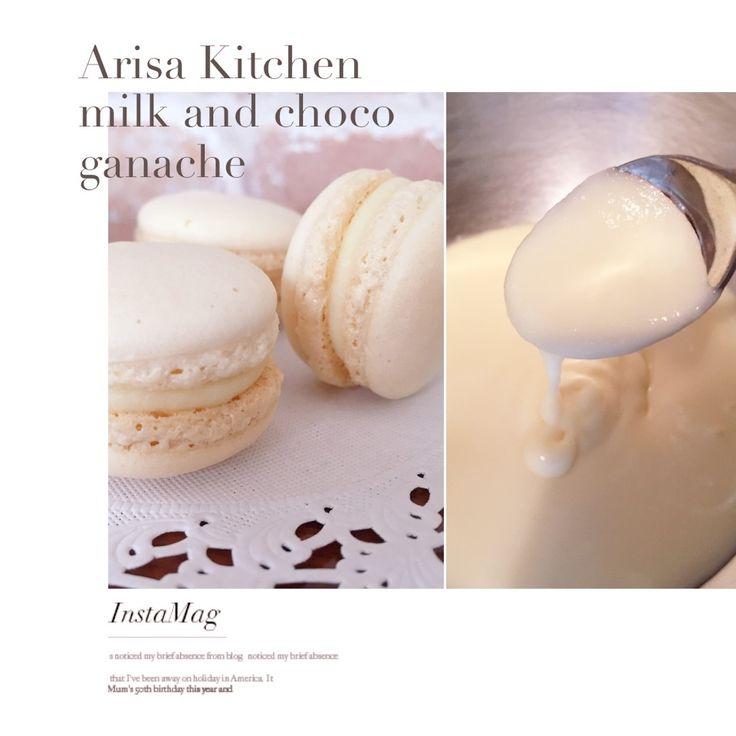ガナッシュクリームを作ろうと思ったのですが、生クリームが無く…駄目元で牛乳で作ってみたら出来ました。  生クリームで作るもののようにコクは少ないですが、少しあっさり目のガナッシュに仕上がりのため濃厚過ぎるのが苦手な方にも食べて頂けると思います(´,,•ω•,,`)♡︎  ホワイトチョコレート大好きな母は、そのままなめていました(笑)  クッキーやマカロンの他、ケーキ生地に挟んでも美味しいと思います♪  今回は、ホワイトチョコで作りましたがミルクチョコやビターチョコでも作って頂けます。