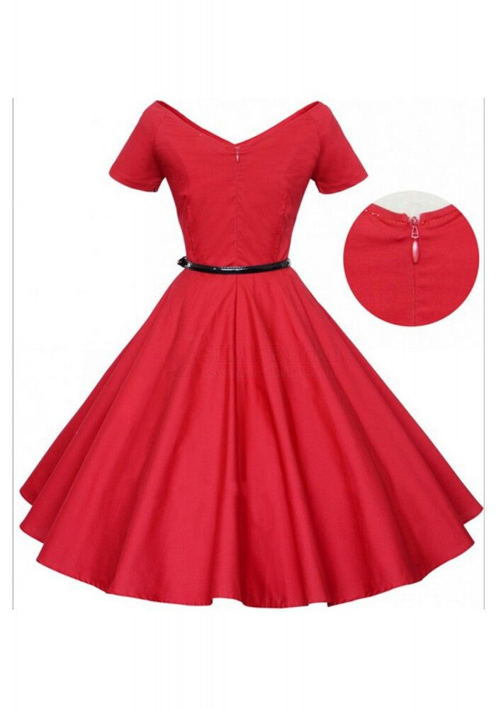 New Arrival Vintage Solid Color V-Neck High Waist Dress For Women #vintagedress #simibridal #vintagedress #simibridal #vintagedress #simibridal #vintagedress #simibridal