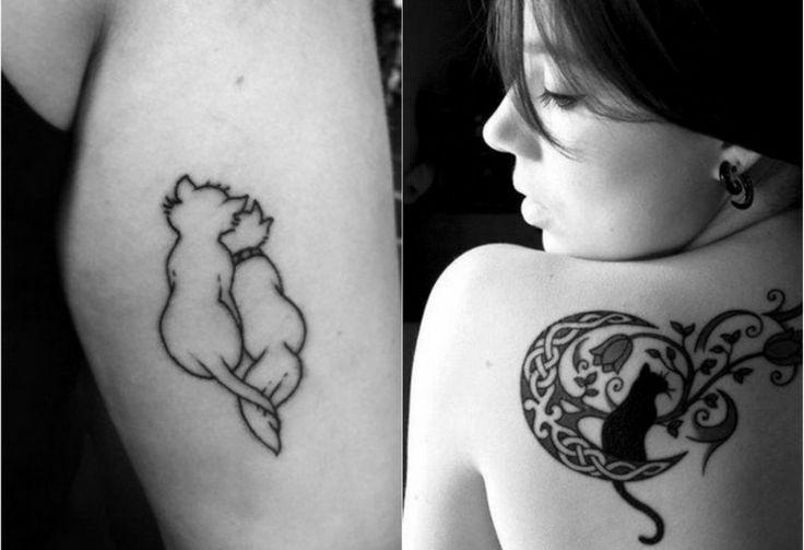 tatuajes de gatos mujeres