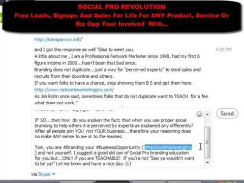 Social Pro Revolution   How To Turn Your Spammers Into Prospects - YouTube