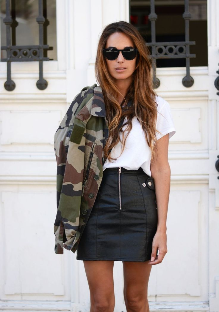 camo is back | stellawantstodie | jacket: Vintage, skirt: Urban Outfitters, sneakers: Superstar by Adidas, tee: H&M, bag: Gucci http://FashionCognoscente.blogspot.com