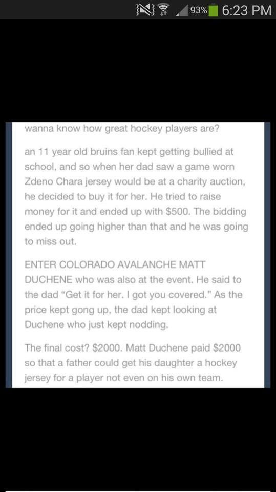 See, this is EXACTLY why hockey is the greatest sport on Earth. You tell me what other sport this would have happened in. Seriously, it doesn't. I live, breathe, and die hockey, and this is the perfect explanation as to why. #LGR❤️