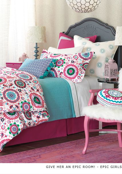 epic luxury bedding by eastern accents pink girly tween pompom