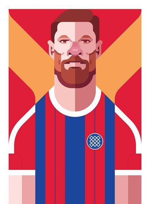 Ilustración de Xabi Alonso hecha por Daniel Nyari