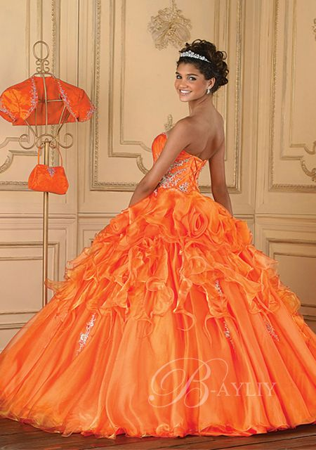 Orange Prom Dresses:)= mine:))