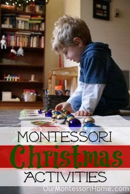 Montessori Christmas Activities for Toddlers & Preschoolers