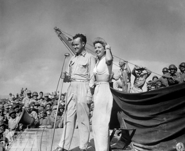Bob Hope and Frances Langford -- USO WWII