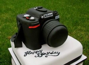 Nikon Camera Happy Birthday Novelty Cake | TheQueenOfTarts.com.au