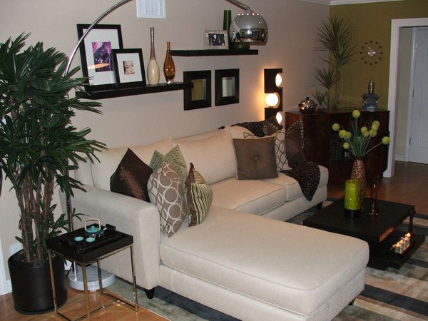 L Shaped Comfort, This L Shaped Sofa Is A Class Touch And Brightens. Living  Room DesignsLiving Room IdeasLiving ...