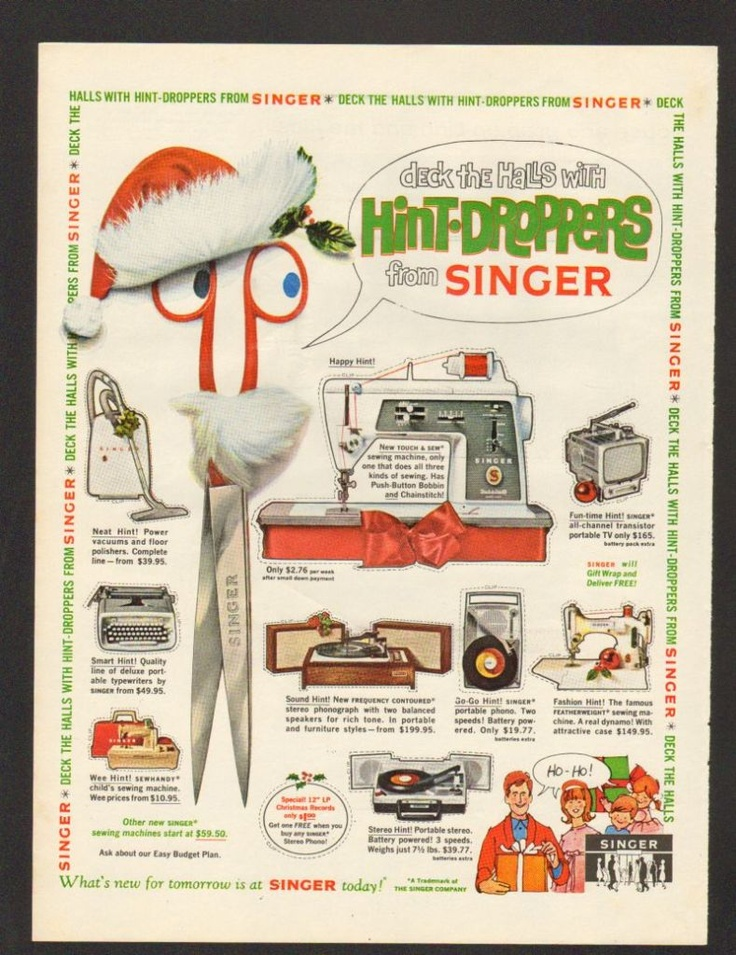 Curated singer old advertising ideas by erensdumont
