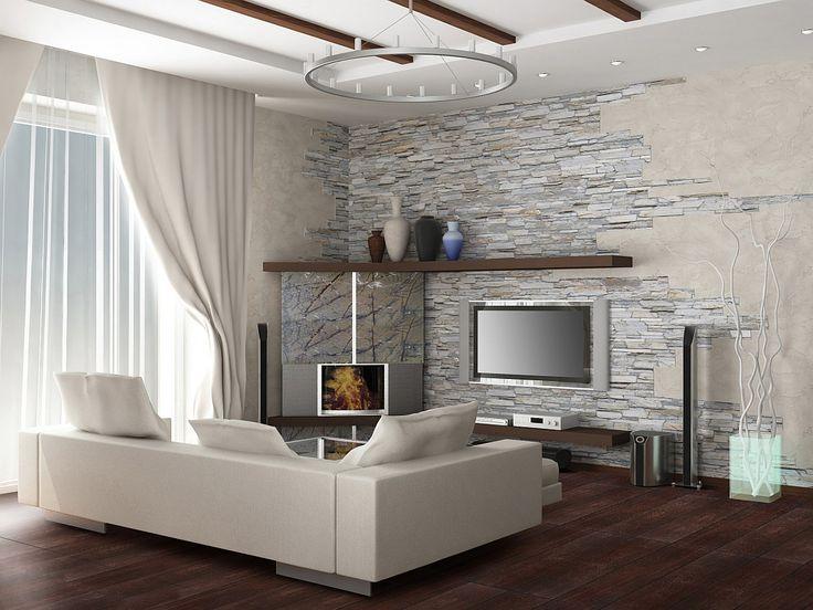 25+ parasta ideaa pinterestissä: steinwand wohnzimmer | steinwand, Wohnzimmer dekoo