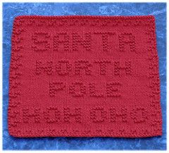 Santa's Address Dishcloth pattern by Rachel van Schie