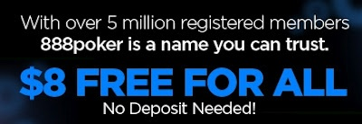 $5000 FREEROLL FOR CANADIANS in 20 MINUTES!  8 DOLLARS FREE TO ANY PLAYER!  No deposit or credit card required.  CLICK THIS PIN UNTIL YOU REACH MY BLOG, THERE YOU CAN CLAIM YOUR 8 DOLLARS AND GET ENTRY TO THE $5000 FREEROLL!