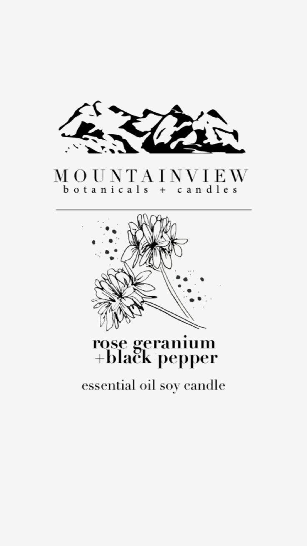 New essential oil scent at MtnviewCandles.Etsy.com 🌱🌸 Rose geranium & black pepper! 💕