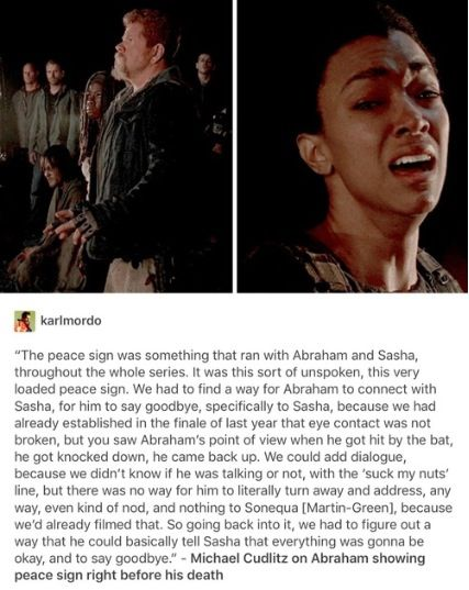 Cudlitz on Abraham and Sasha unspoken goodbye