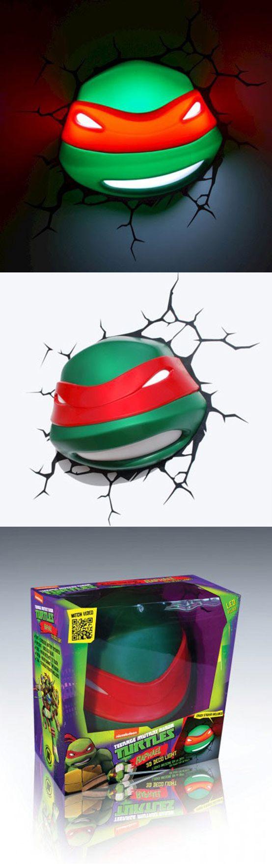 Lámpara de las Tortugas Ninja en 3D! - 3D Ninja Turtles Lamp #RegalosFrikis #Geek #Gifts #TortugasNinja