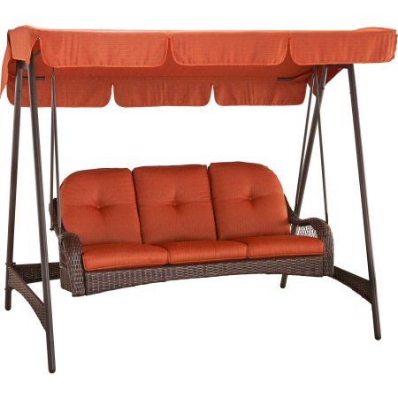 Better Homes and Gardens Azalea Ridge 3-Person Woven Swing with Canopy - Walmart.com