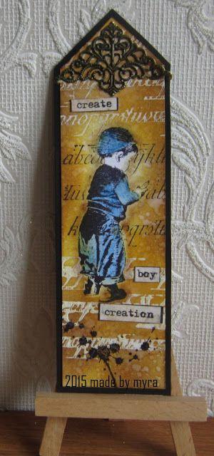 Made by Myra..... with love: Artjourneychallenge: Boekenlegger