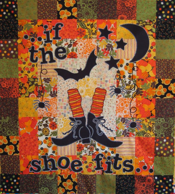 witch shoe quilt -(Joni we are thinking the same thoughts now!)