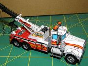 Kenworth W900 Wrecker Tow Truck Free Vehicle Paper Model Download