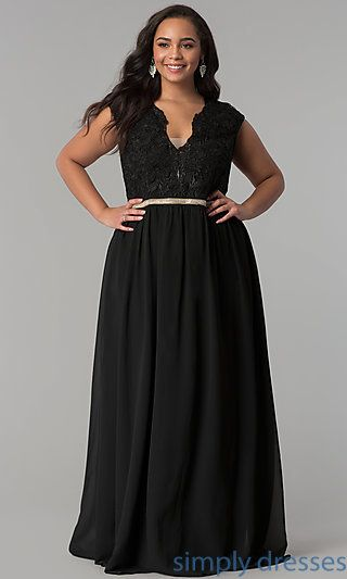 778f585d9f Shop illusion-lace long plus-size prom dresses at Simply Dresses. Formal  dresses under  150 with sweetheart necklines and layered a-line skirts.