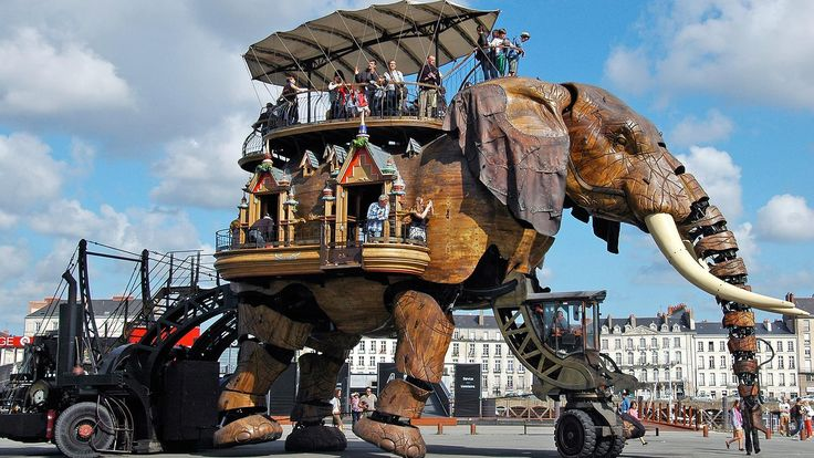 Les Machines de L'Île: a steampunk park of Jules Verne's dreams, Nantes, France (Credit: Hana Schank)
