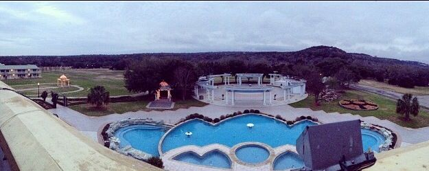 What a great view at Radha Madhav Dham
