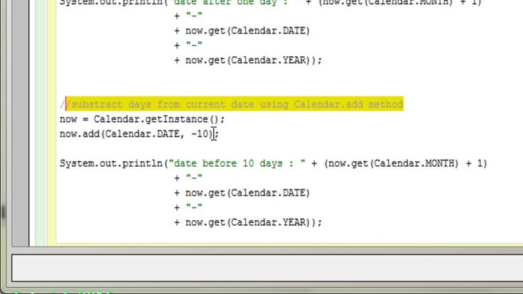 Java Programs - Calender with dates