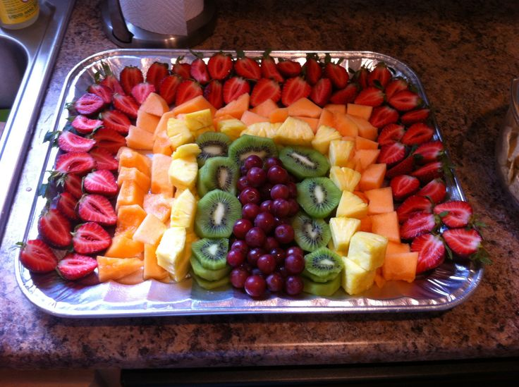 Easy Baby Shower Food Idea!! Rainbow Fruit Tray.