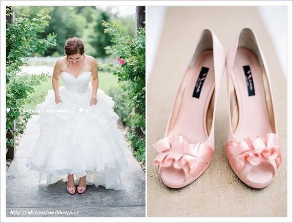 Свадебные туфли розовые