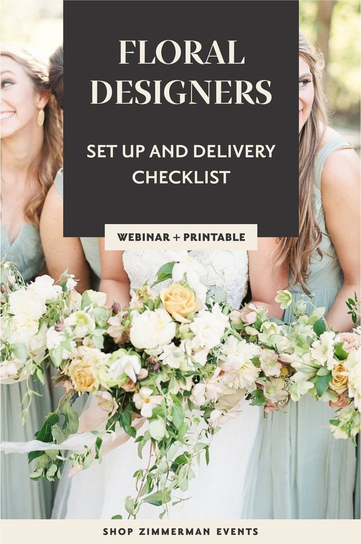 Video Tutorial Set Up And Delivery Checklist Floral Design