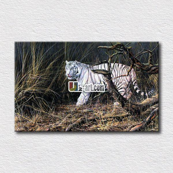 Картины животных белый тигр отпечатки на холсте фото картины висят на стене гостиной искусств