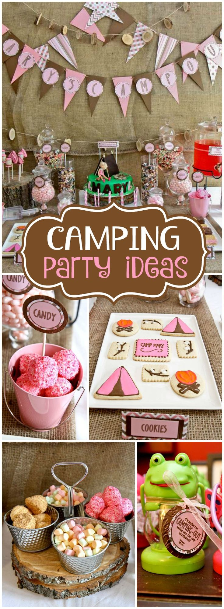 This camping party was held indoors! So fun! See more party ideas at CatchMyParty.com!