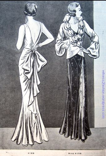 Butterick dress 4189 and wrap 4156. The Delineator, November 1931.