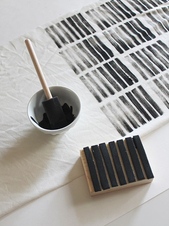 DIY stamping. Re-style your home textiles.
