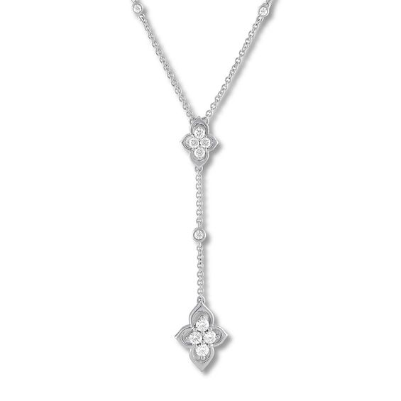Diamond Necklace 1 3 Carat Tw Round 10k White Gold Jared In 2020 Diamond Necklace Jared Diamond Necklace Diamond Heart Pendant Necklace