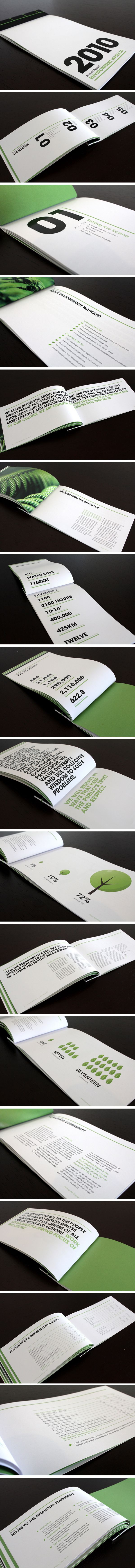 raewyn brandon | environment waikato annual report...love the layout and graphics. bold, elegant simplicity!