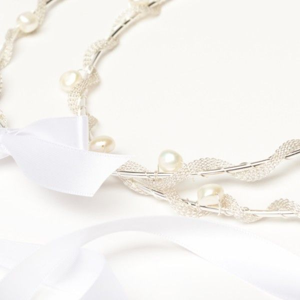 Thalassa Silver Wedding Crown Stefana