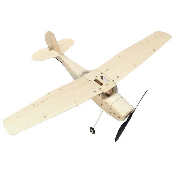 Balsa Wood Micro 3CH Indoor Electric Biplane Sopwith Pup 378mm