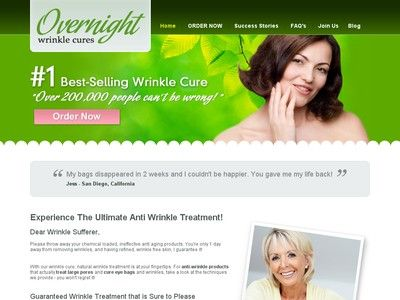 Wrinkle Treatment - Get rid of Under Eye Wrinkles by Overnight Wrinkle Cures