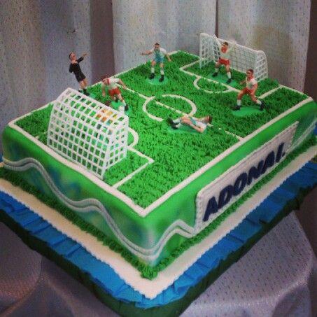 Torta cancha de futbol.